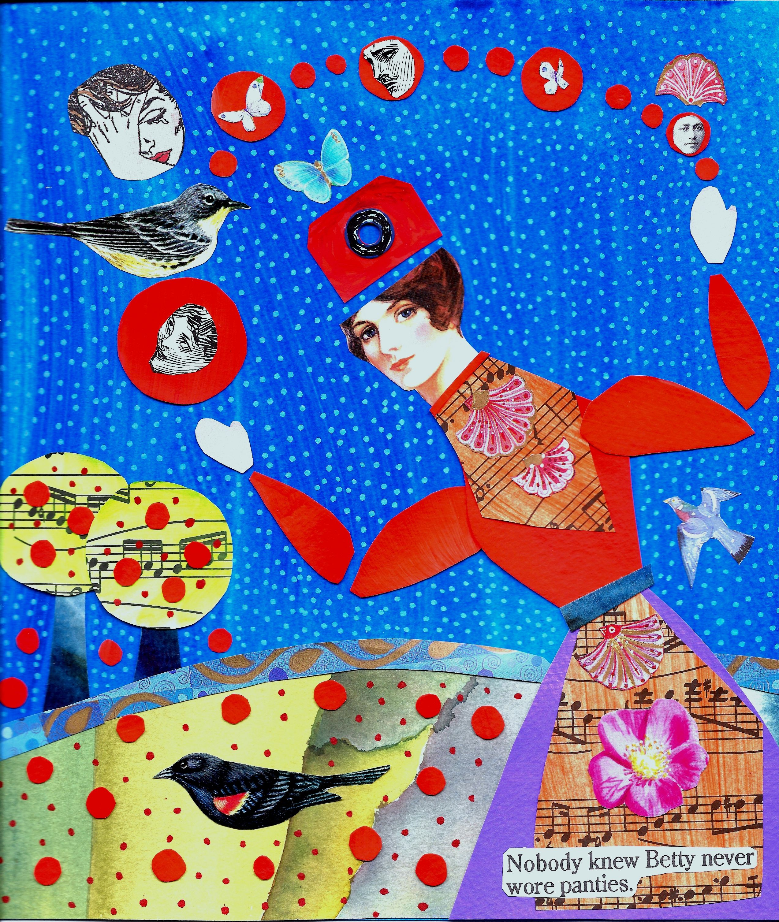 Collage betty 85x10 collage making collage art art