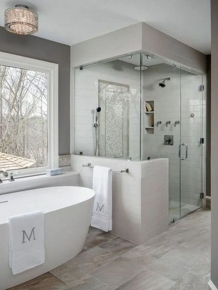 43 Awesome Master Bathroom Remodel Ideas On A Budget 34 Shower Remodel Small Shower Remodel Bathroom Remodel Designs