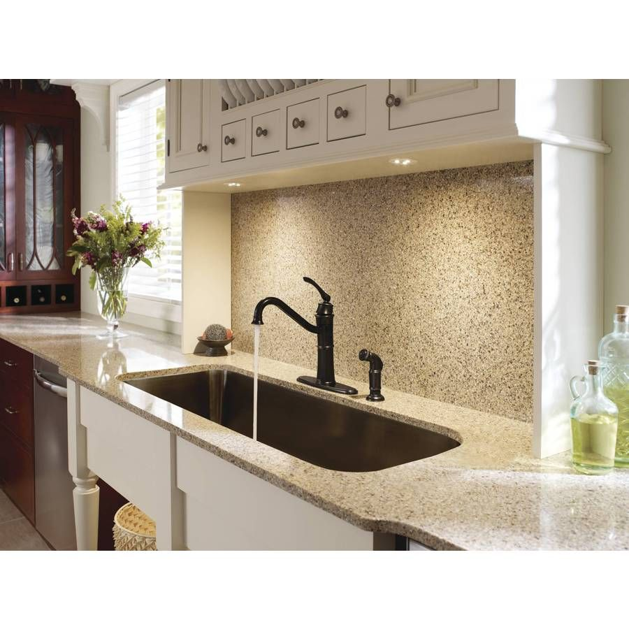 2ee4b2cb235 Shop Moen Wetherly Mediterranean Bronze 1-Handle High-Arc Kitchen Faucet  with Side Spray at Lowes.com
