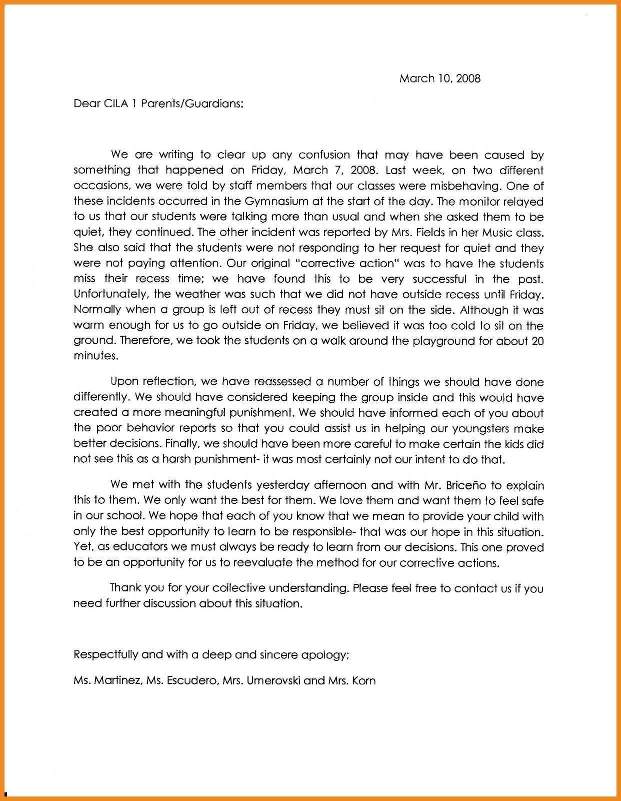 apologylettertoteacherformisbehaviorapology2parents apology