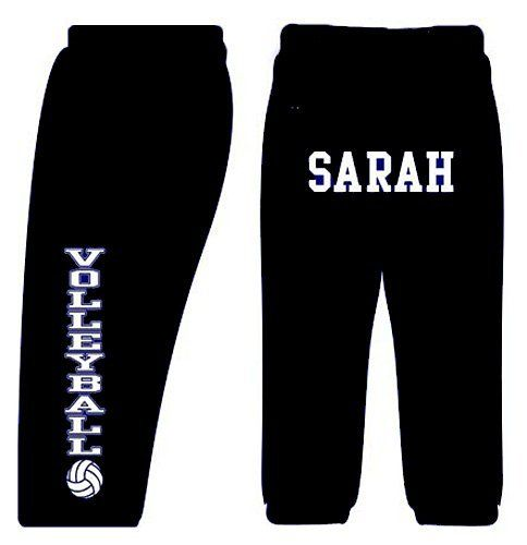 Custom Volleyball Sweatpants Black Adult Small By Fair Game 26 99 Adult Is 9 3 Oz 50 50 Pocket Sweats With Je Volleyball Sweatpants Fun Pants Custom Soccer
