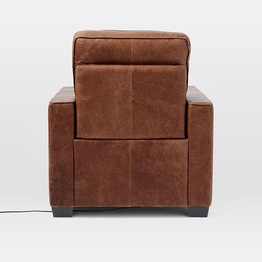 Cool Henry R Leather Power Recliner Chair Tobacco At West Elm Gmtry Best Dining Table And Chair Ideas Images Gmtryco