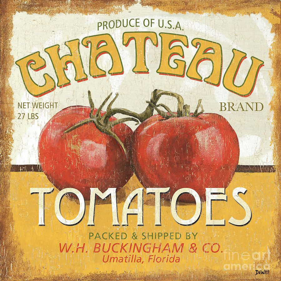 Retro Veggie Labels 4 by Debbie DeWitt - Retro Veggie Labels 4 Painting -  Retro Veggie Labels 4 Fine Art Prints and Posters for Sale
