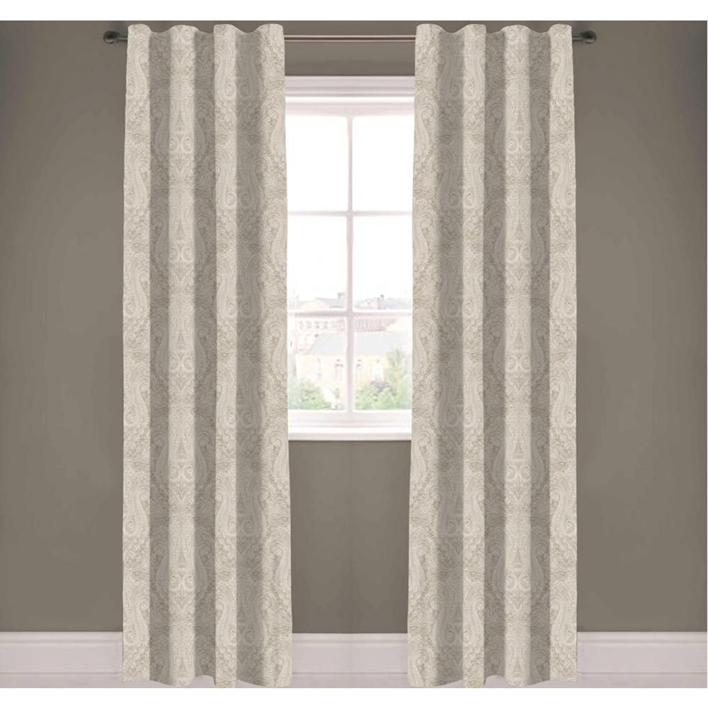A1 Home Collections Paisley Light Filtering Drapery Panel In Beige