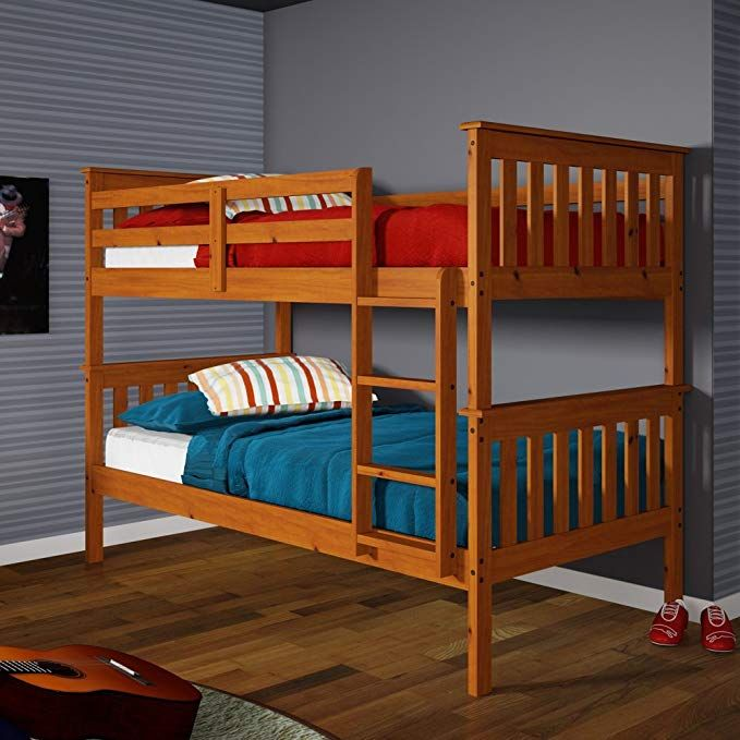 Donco Kids Twin Over Twin Mission Bunk Bed Review Bed Frames