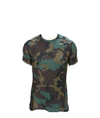 8eadbaad Nike Pro Combat Dri-Fit Max Hypercool Camo Wood Compression Mens Shirt