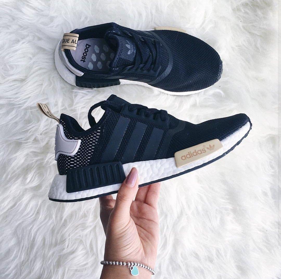adidas Originals NMD in schwarz beige weiß black creme