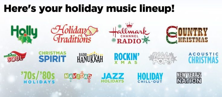 Pin by Ronald Vernon on Sirius xm radio channel guide before and after   Holiday music, New year ...