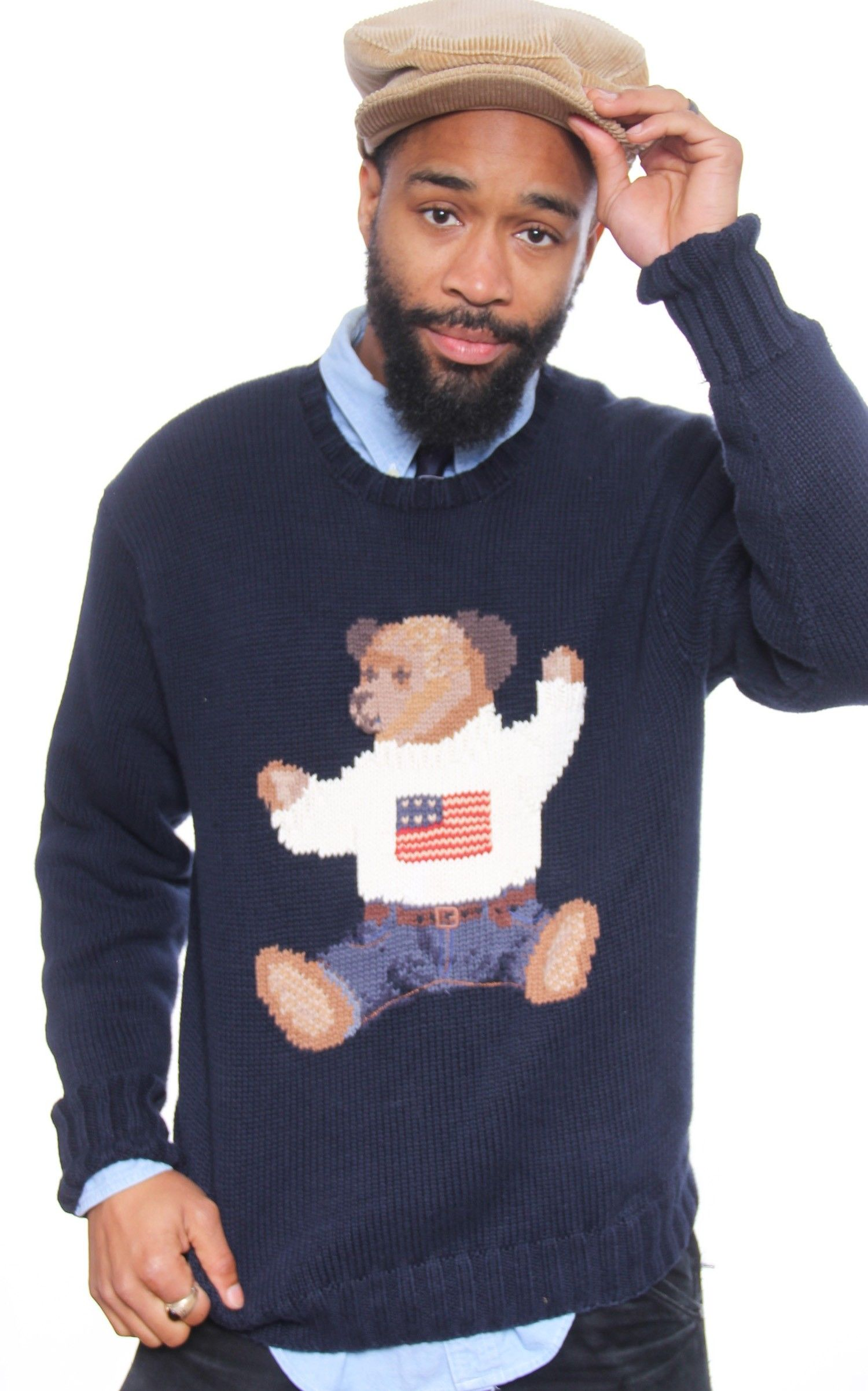 a99c4a54 Vintage Rare Polo Bear Ralph Lauren SItting Bear Knit Sweater | Polo ...