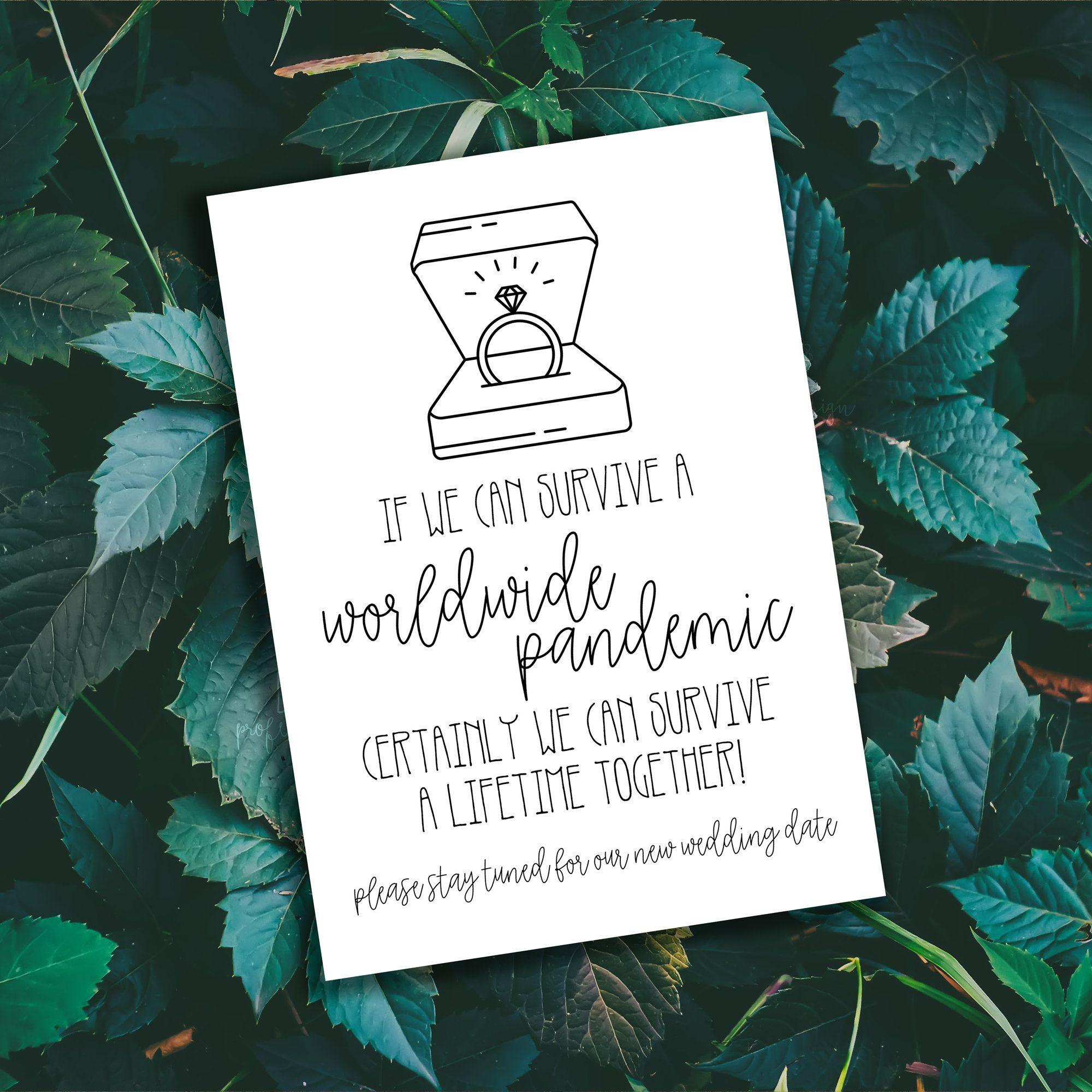 Wedding Postponement, Change the Date, Rescheduled