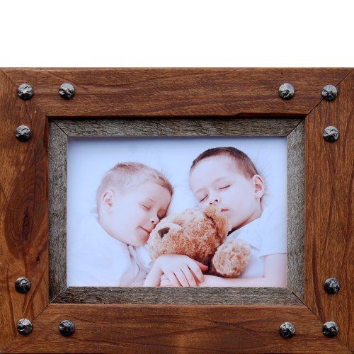 Distressed wood picture frame 5x7