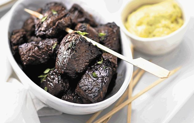 Beef cubes marinated in soy sauce and balsamic vinegar - Times LIVE. Looks delish!
