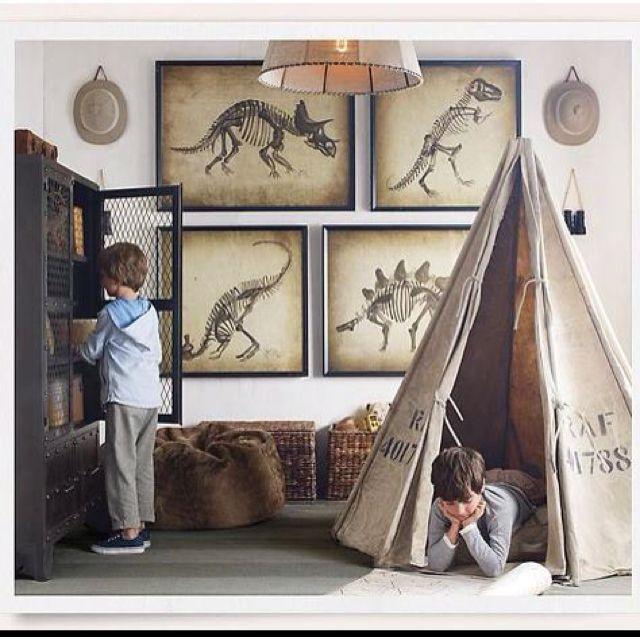 Boys Funky Room: Boys Dinosaur Bedroom