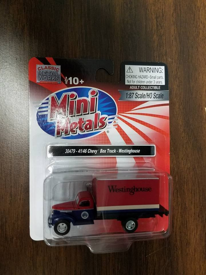 Mini Metals 30479 1941 1946 Chevy Van Truck Westinghouse 1 87th Scale Minimetals Westinghouse Chevy Van Mini