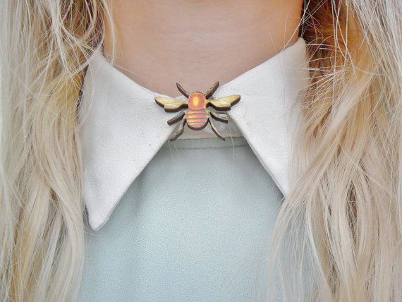 Cute Bee Insect Bug Butterfly Nature Entomology Collar Pin Badge Brooch