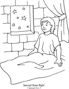 Samuel Hears God Coloring Page