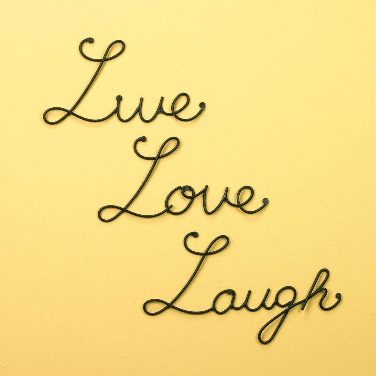 Wall-Mounted Live Love Laugh Set 3 Mount Metal Word Sculpture Decor ...