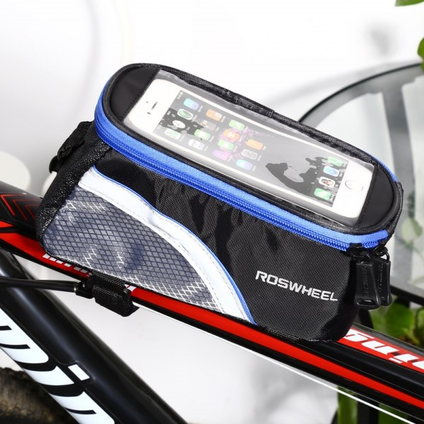 9.81$  Watch now - http://di8ao.justgood.pw/go.php?t=200847601 - ROSWHEEL D12496L 1.8L Touch Screen Bicycle Font Tube Bag Colorful Strap Handlebar Pouch Cycling Accessories