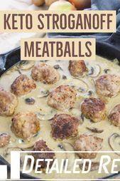 Keto Stroganoff Meatballs | Daily Ketogenic - # Meatballs #Keto #k ... - #daily ...#daily #keto #ketogenic #meatballs #stroganoff #ketomeatballs