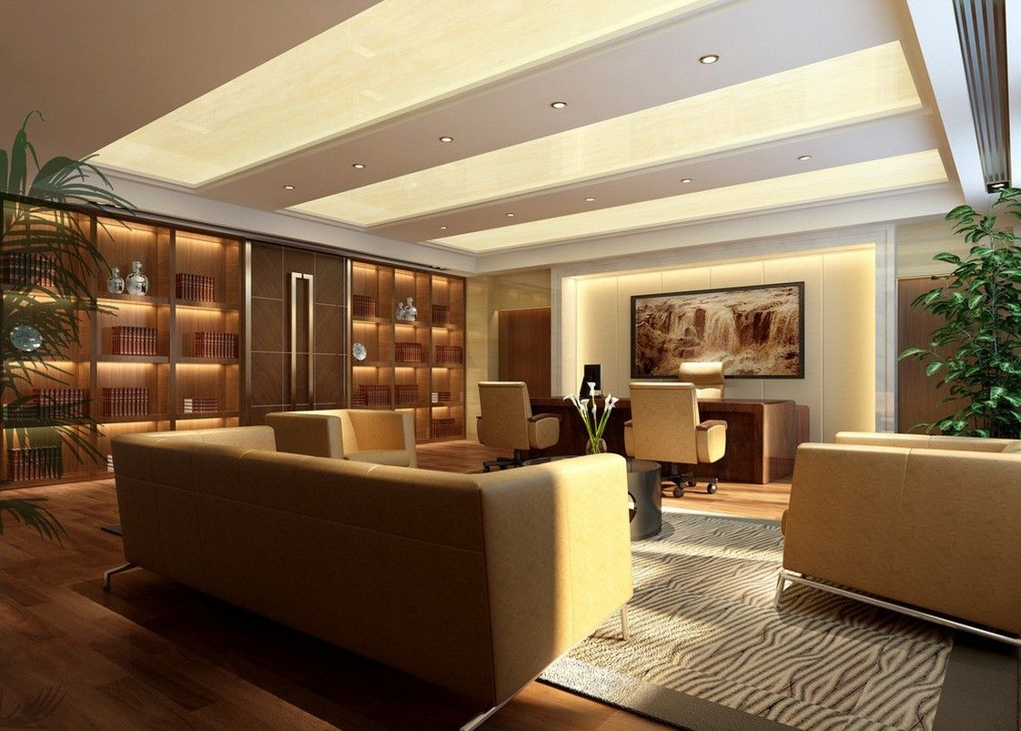 Modern luxury office modern chinese style ceo office for Office wall interior