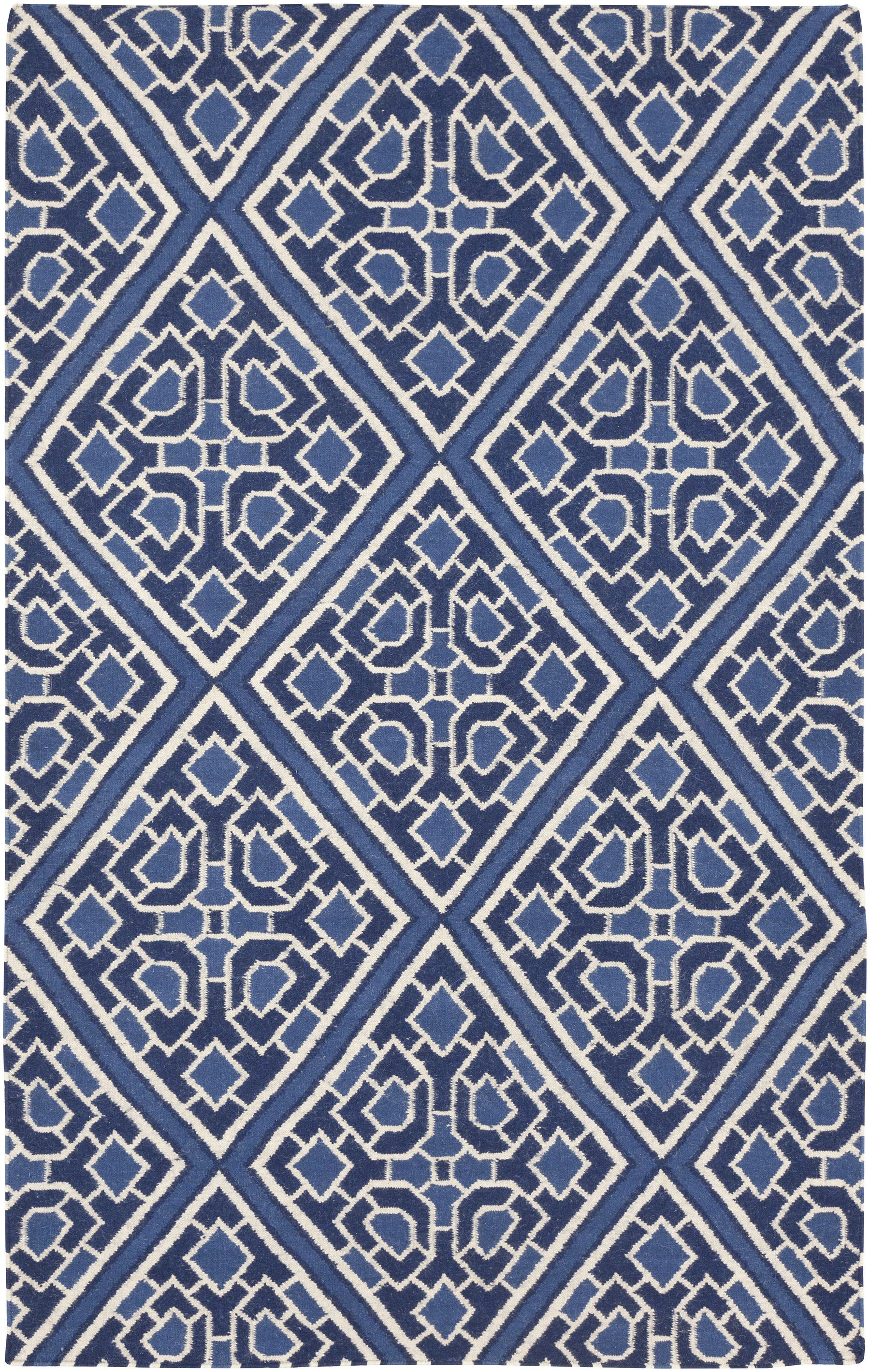 Amd 1005 Navy Blue Diamond Pattern Lacefield Surya Rug Area Rug Collections Contemporary Area Rugs Black Area Rugs