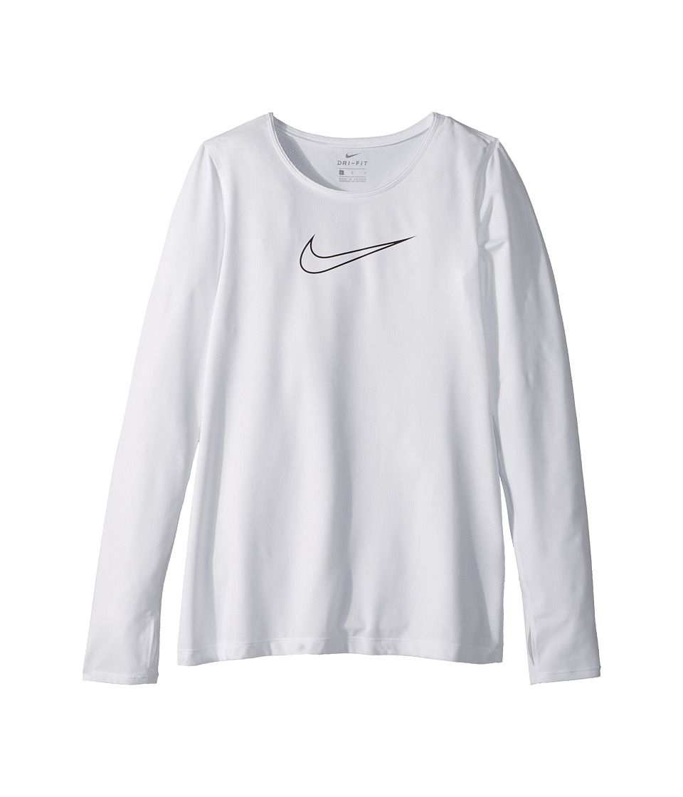2560a34f7a Nike Kids Pro Long Sleeve Top (Little Kids/Big Kids) Girl's Clothing ...