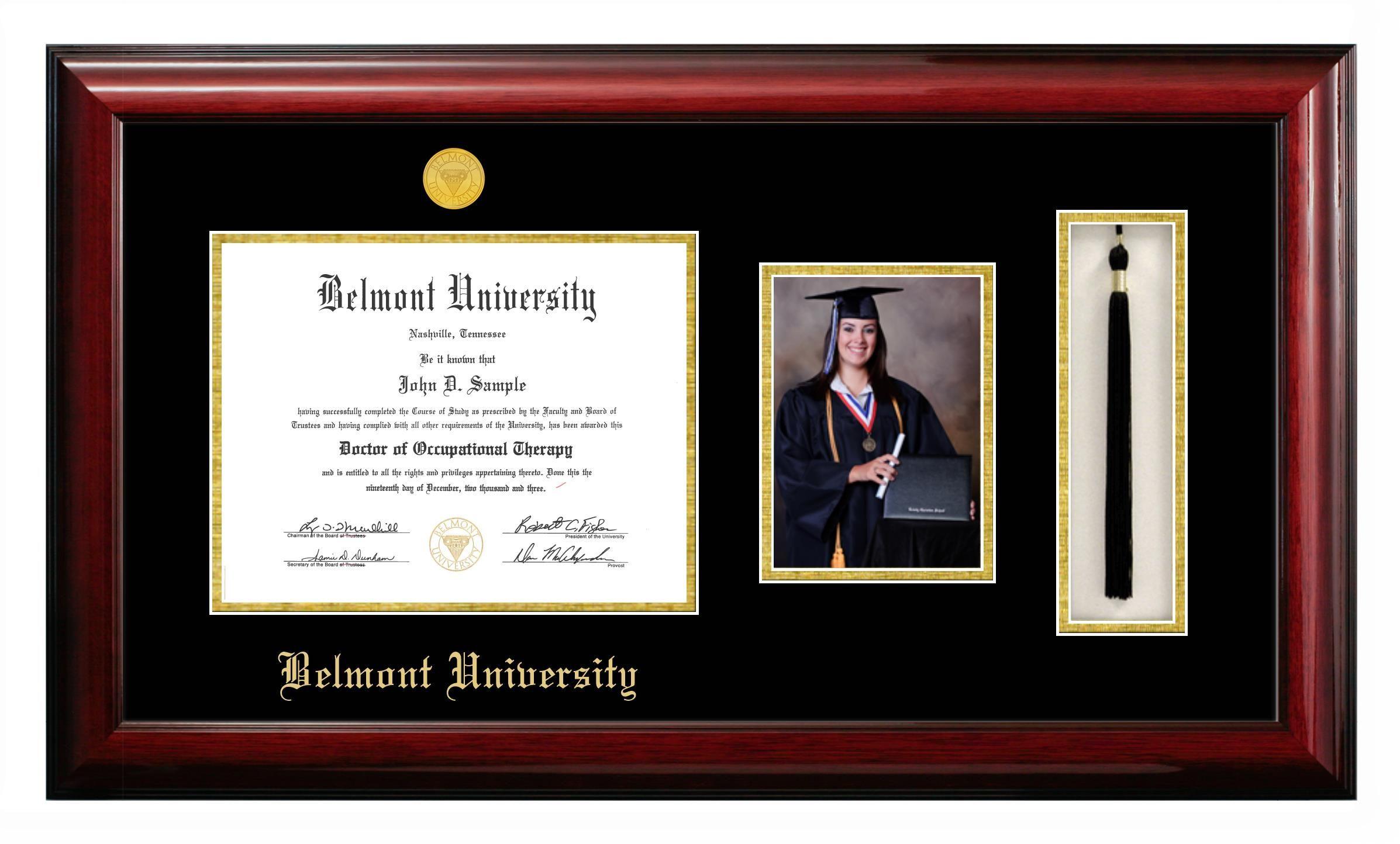 Price 265 00 Belmont University Diploma Frame With 5 X 7 Portrait And Tassel Box Diploma Frame Graduation Frame University Document