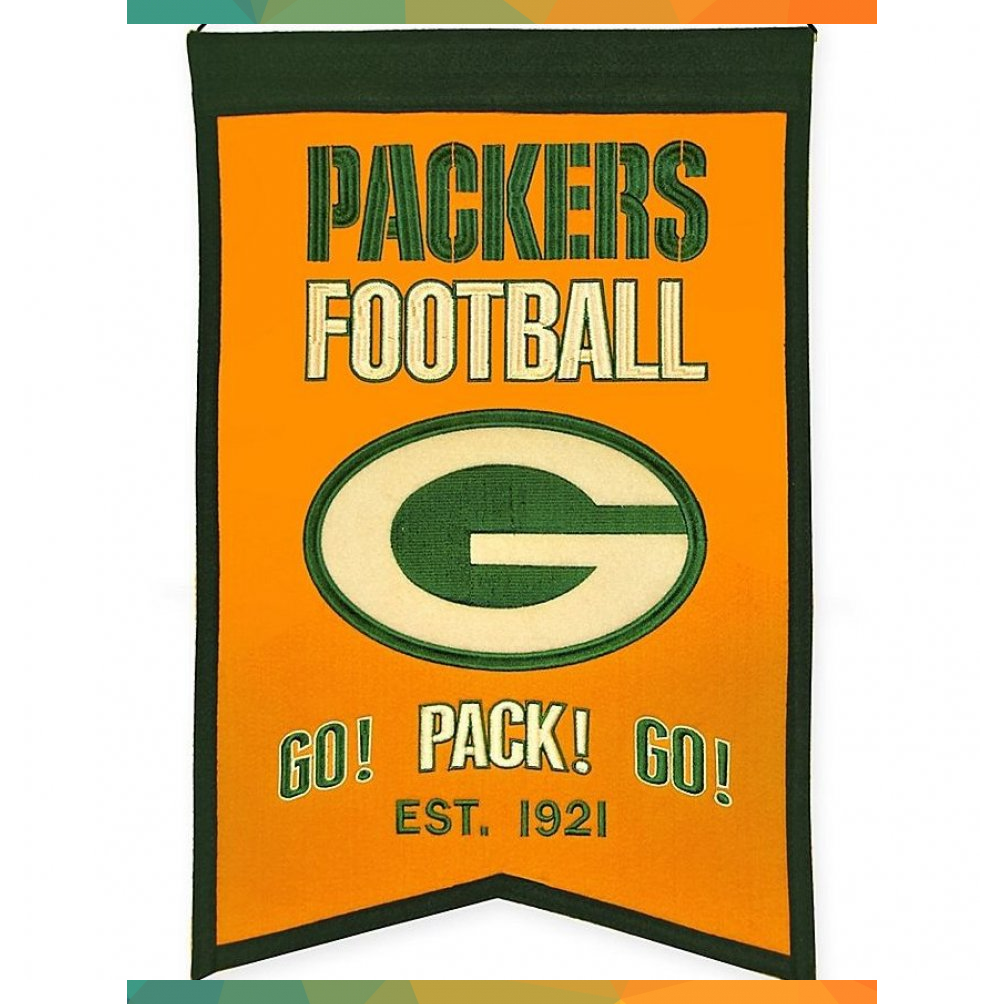 Nfl Green Bay Packers Franchise Banner Multi Br Banner Bay Franchise Green Multi Nfl Packers 2020 Nfl Green Bay Packers Football Packers