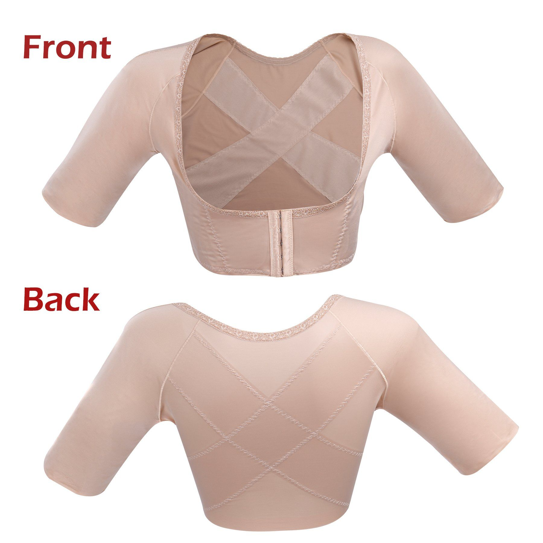 a299a21e6d664 SLIMBELLE Womens Seamless Arm Shaper Slim Upper Sleeves Top Body Shaper  Compression Vest Posture CorrectorBeigeS     Check this awesome product by  going to ...