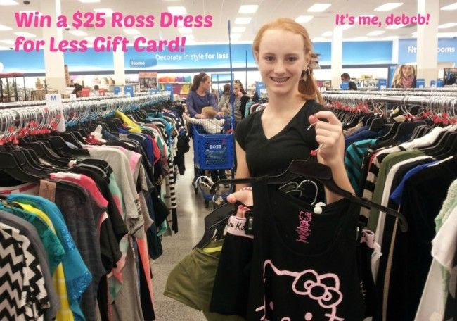 It S A Giveaway For A 25 Ross Dress For Less Gift Card It S Me Debcb Ross Dresses Dresses For Less Dresses