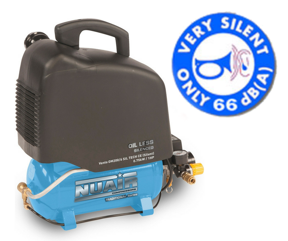 The Nuair Silent Vento Oil Free Compressor is IDEAL for