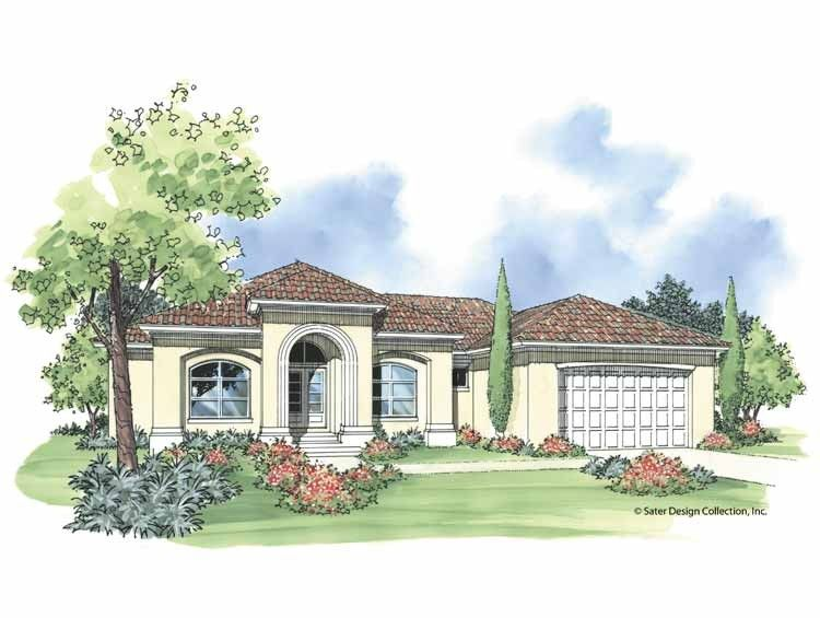 Mediterranean House Plan With 1911 Square Feet And 3