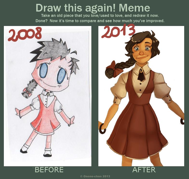 Draw This Again Meme By Rm Parfait On Deviantart Art Style Challenge Art Memes Cute Art