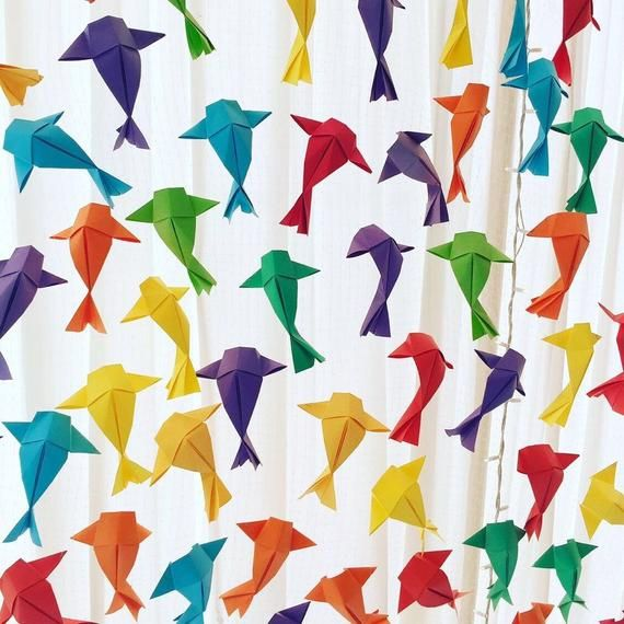 Photo of Origami Fish ceiling display