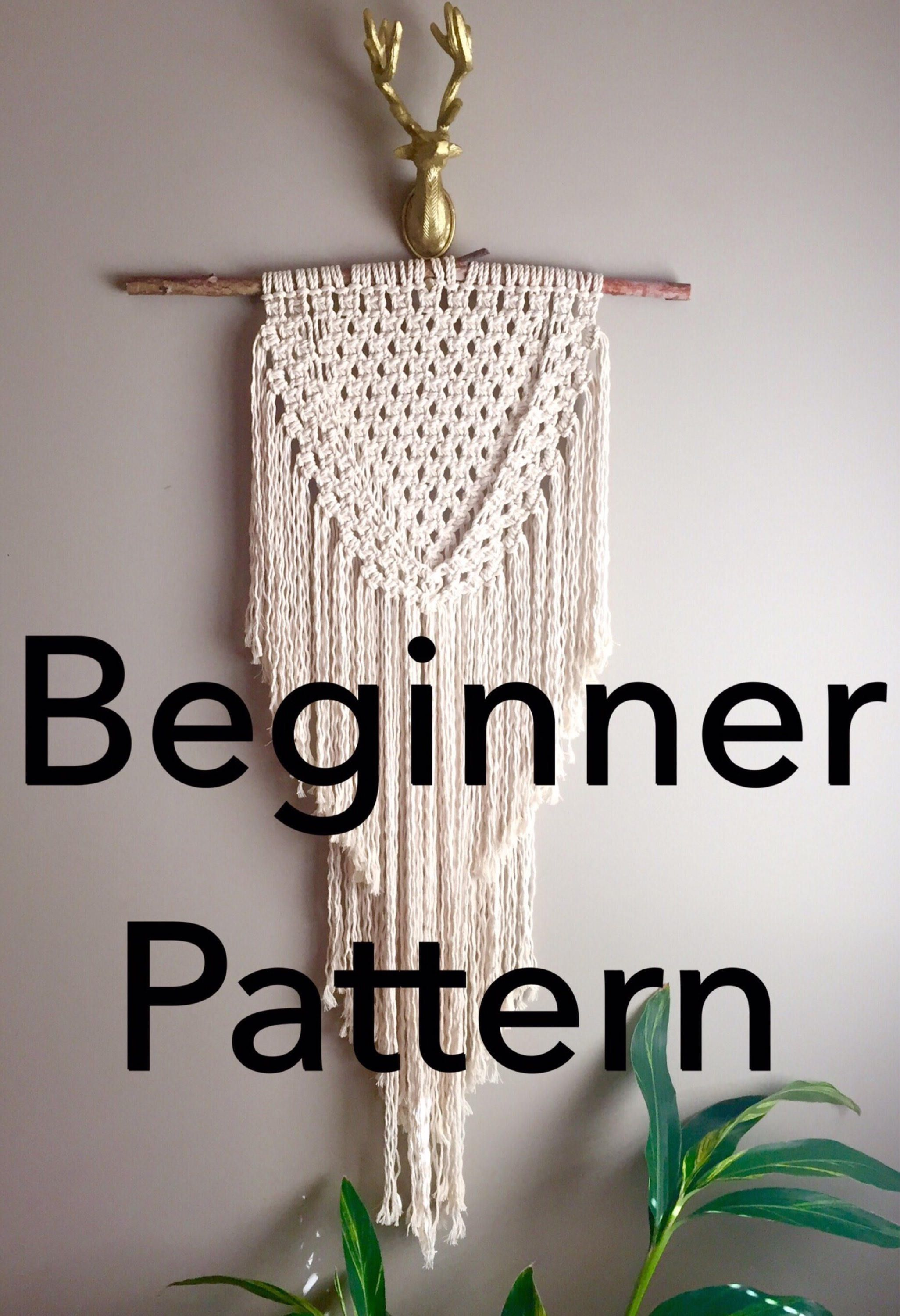 Joan Of Arc Macrame Pattern Beginner Pdf Diy Wall Hanging Swag
