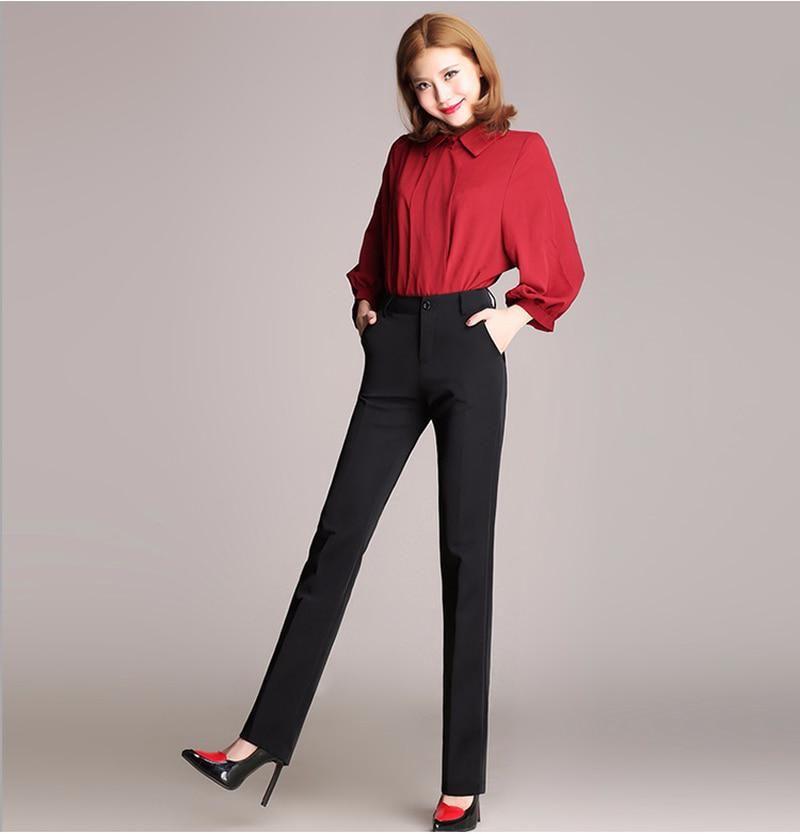 e9dc24289c1d3 TUHAO Plus Size 4XL 3XL Formal Black Pants for Woman 2018 Spring ...