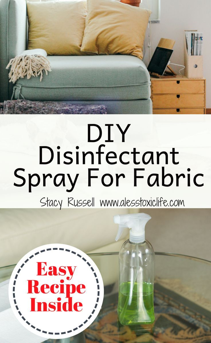 Easy Homemade Disinfectant Spray For Fabric Natural