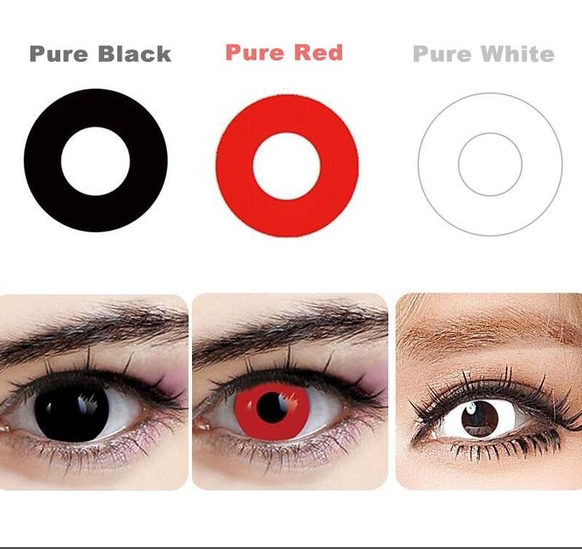 White Red Black Blue Green color cosplay contact lenses for eyes ... f552b139854b