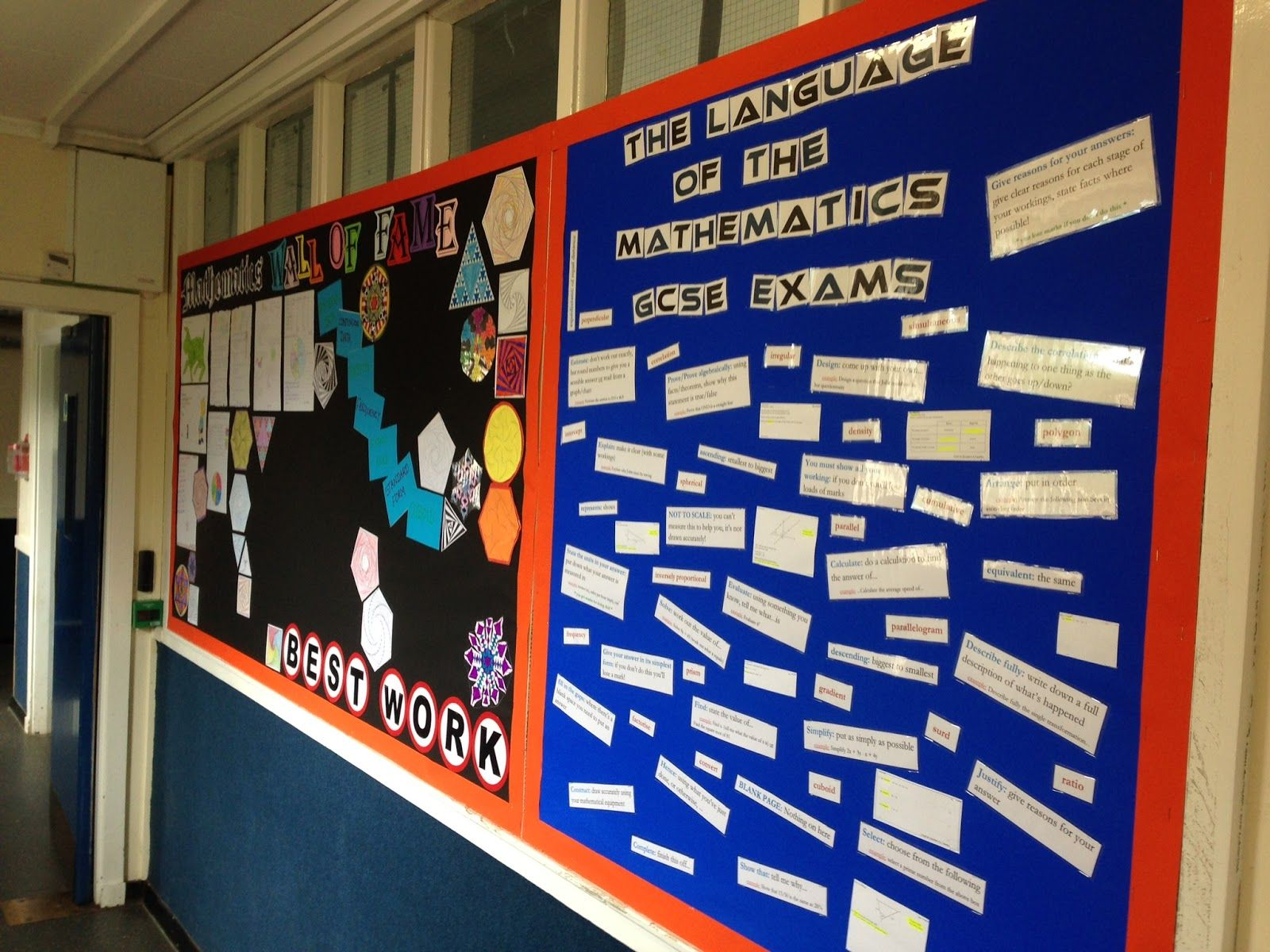 Classroom Display Ideas Ks4 : Maths displays secondary on the other side of