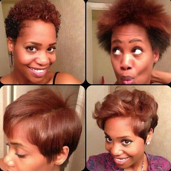 Blowout On Twa Natural Hair Blowout Blowout Hair Short Natural Hair Styles