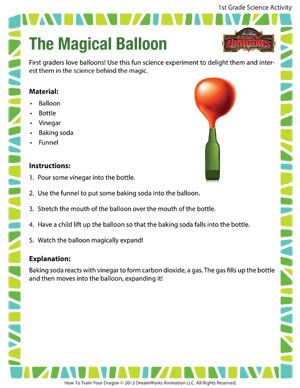 The Magical Balloon - Printable First Grade Science Activity ...