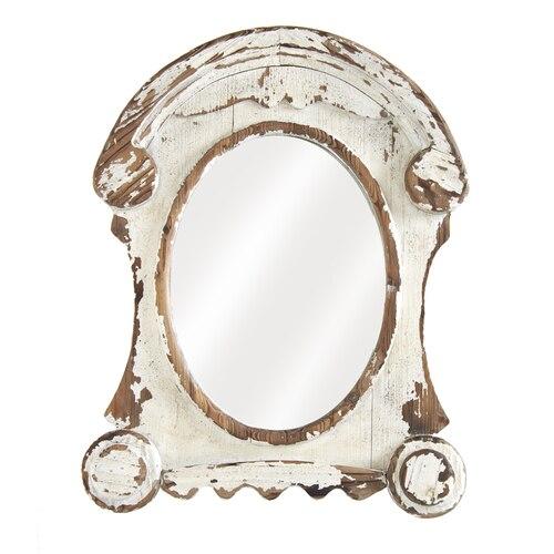 36 White Wash Ornate Oval Mirror Vintage Mirror Wall Oval Mirror Mirror