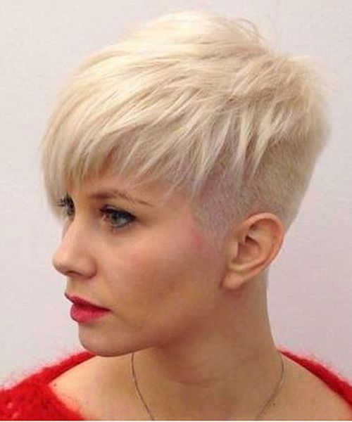 Side Buzz Short Funky Hairstyles For Women Haircuts