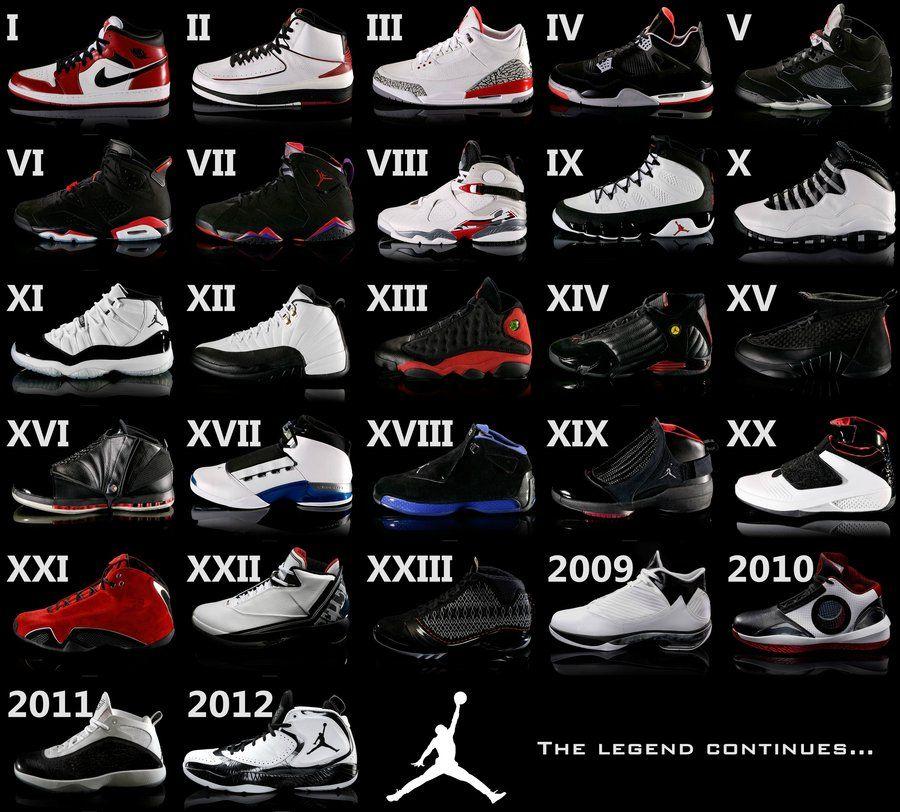 all models jordan shoes