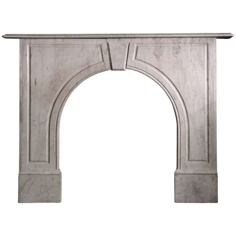 Early Victorian Arched Carrara Marble Mantel Vic S90 Carrara Marble Victorian Fireplace Mantel