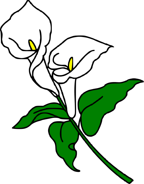 calla lily clipart cliparts co calla lily pinterest calla rh pinterest com easter lily clipart black and white lily clipart images
