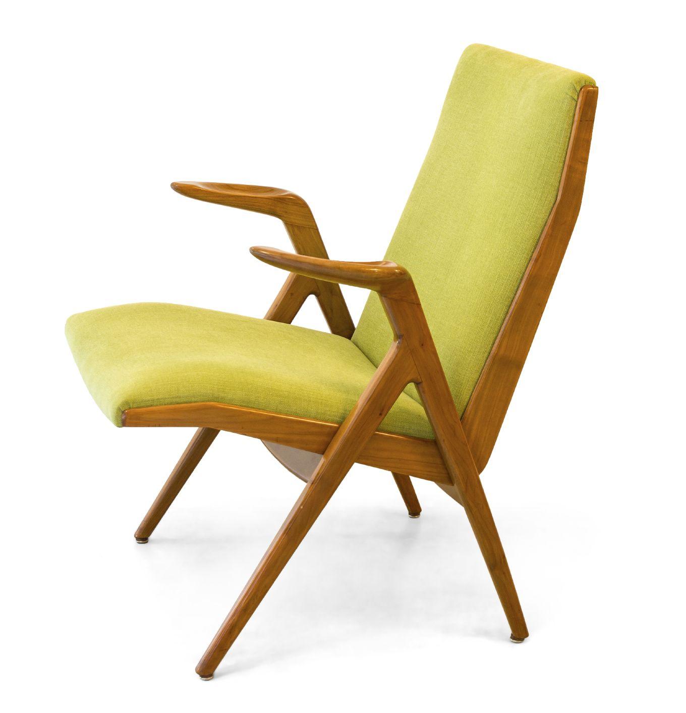 Midcentury modern yellow danish chair mid century pinterest