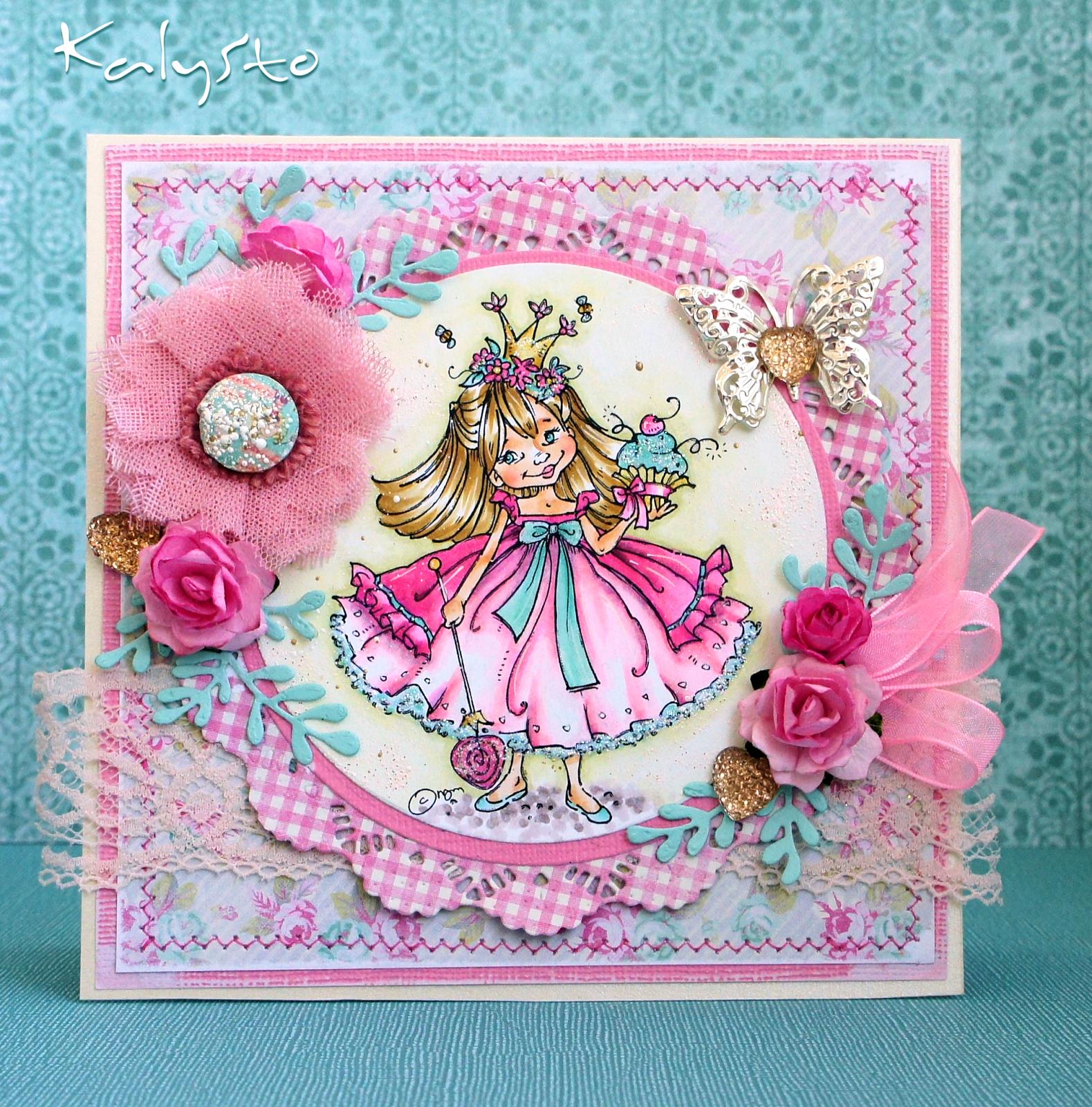 Открытка, открытка на день рождения маленькая принцесса