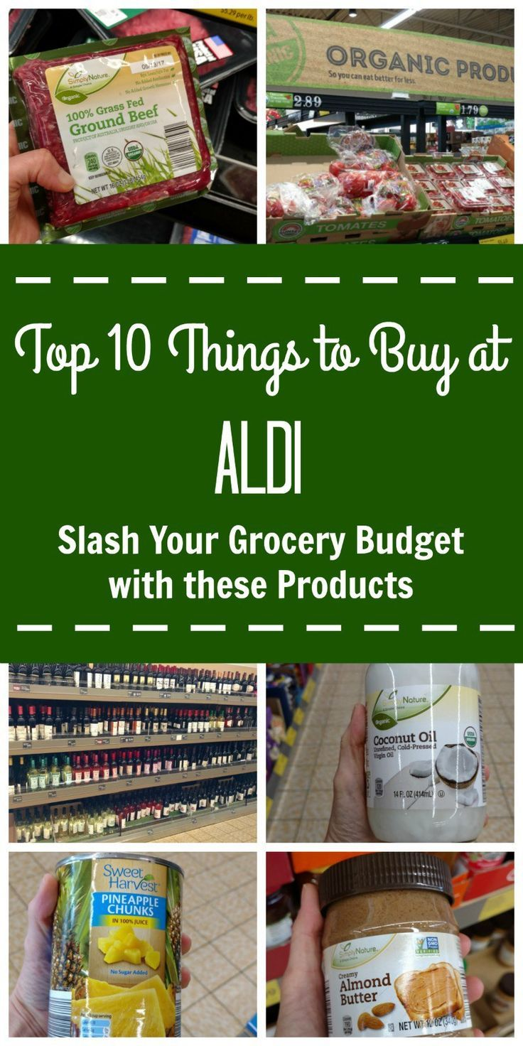 Top 10 Things to Buy at ALDI Aldi meal plan, Things to