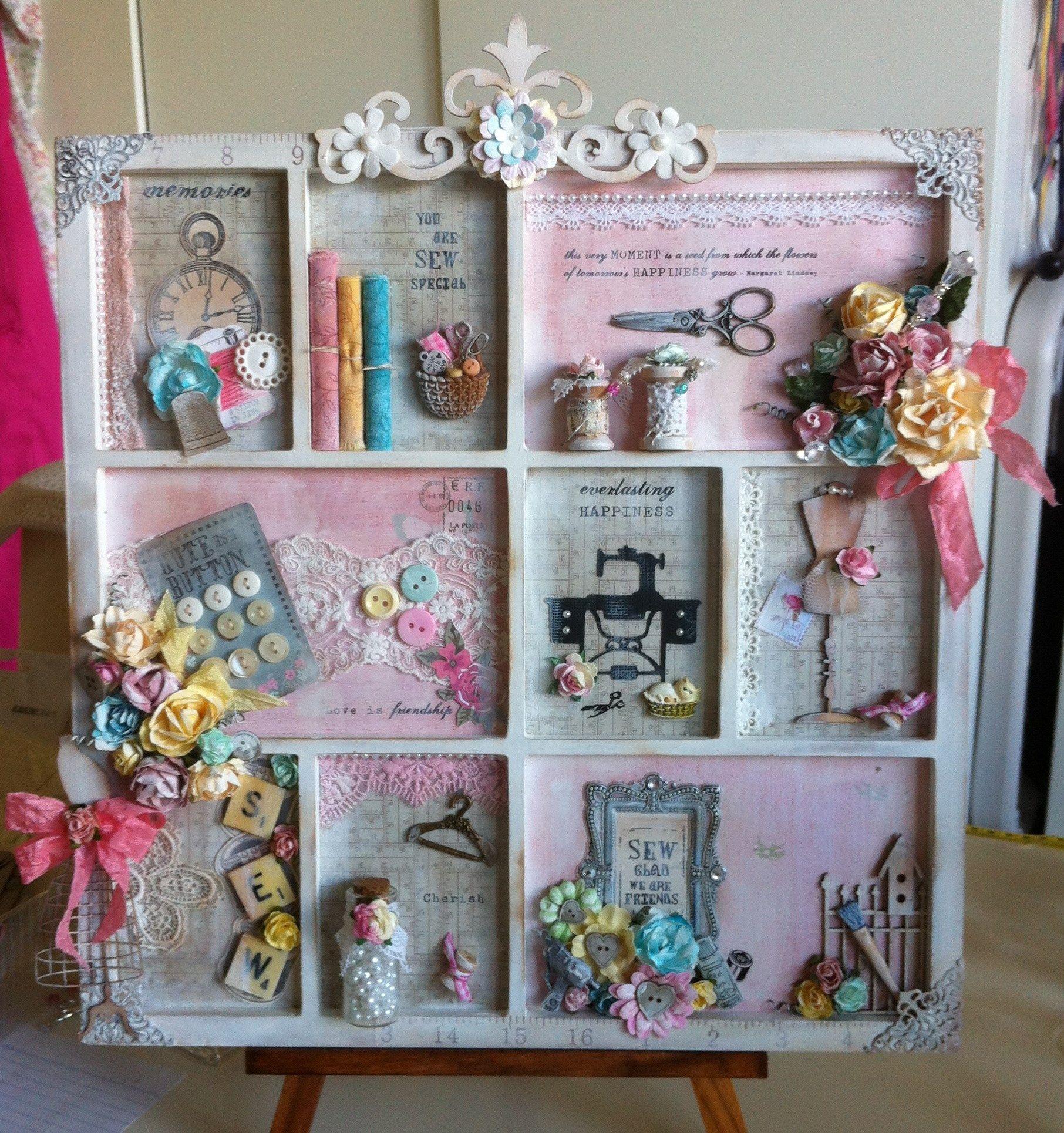 Altered Book Box Mini Room Night Light Emma Book: This Is Pretty, Shadow Box/printer's Tray..